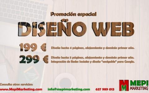 Promoción especial en el diseño web Valladolid